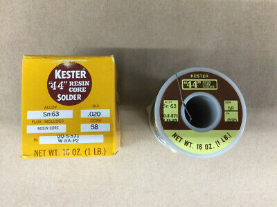 Kester 44 Resin Core Solder Alloy Sn 63 Dia .020 Core 58