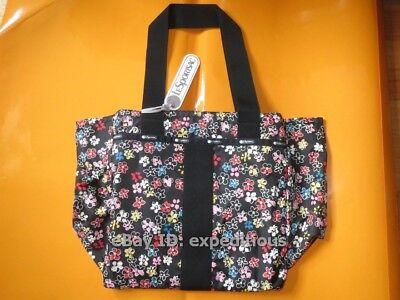Flower Essential Tote Bag (BRAND NEW LESPORTSAC ESSENTIAL EVERYDAY TOTE BAG FLOWER BURST C 2238 P860 CUTE)