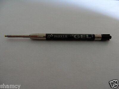 3 Genuine Parker Retractable Ball Pen Black Gel Ink Refills Cartridges Ballpoint