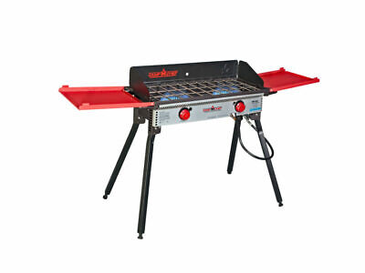 Camp Chef Pro 60X 2 Burner Stove Black and Red PRO60X Base Camp Stove
