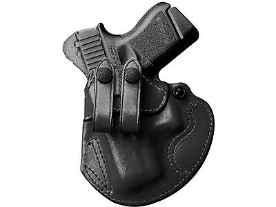Desantis Cozy Partner Belt Holster Ruger American 9Mm Black Leather Left Hand