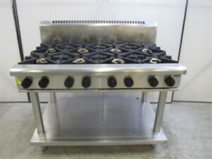 GRAYSONLINE AUCTION Waldorf 8 Burner Gas Cooktop with Stand RN8800G-LS