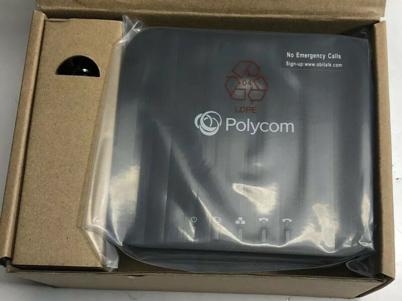 Polycom 220049522001 2 Port VoIP Phone Adapter with Google Voice Fax.