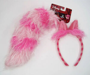 Disney CHESHIRE CAT headband TAIL ALICE in WONDERLAND