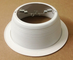 """6"""" Inch White Baffle Recessed Can Light Trim Replaces HALO 310"""