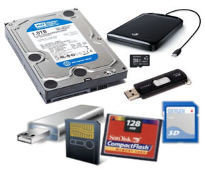 Memory Card/Hard Drive Data Recovery