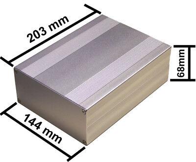 Silver Aluminum Project Box Enclosure Case Electronic Diy 203x144x68mm-big