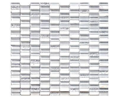 Weißen Granit-fliesen (Glassteinmosaik Weiss Stäbchen Granit Fliesen Mosaik Bad Renovieren Dusche)
