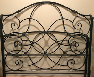 Metal queen size bed headboard and frame