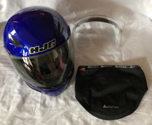 NJC CL-14 Motorcycle Helmet w/Extra Guard and Face Mask Size Med