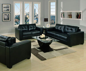 BRAND NEW BONDED LEATHER SOFA AND LOVESEAT