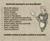 Housekeeping Available for the elderly