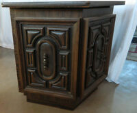 2 End table with storage