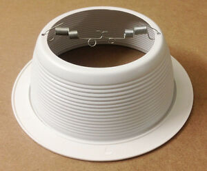 """NEW 6"""" White Baffle Recessed Can Light Trim Replaces HALO 310"""