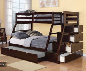 WOODEN BUNK BEDS, $399 AND UP