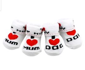 BNWT Baby socks I love Mum Dad