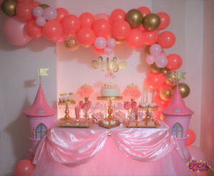 PRINCESS PINK AND GOLD SWEET TABLE, CANDY BAR 10% OFF