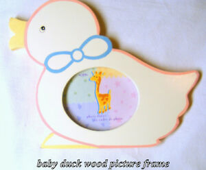 Picture frame, wood, duck shape, desk or wall