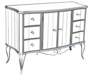 MIRRORED BOMBAY CHEST OR MIRRORED COUNCEL-DANIEL