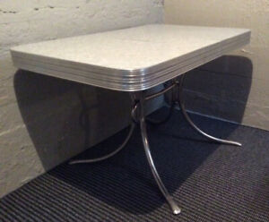 Chrome Dinette Table & Chair Set
