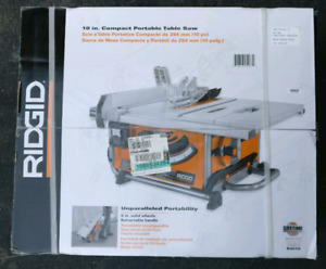 Ridgid 10.in Compact Portable Table Saw R4516