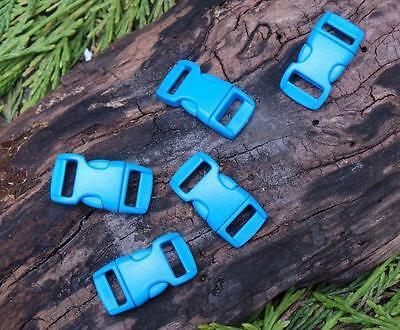 5 X 10mm 1cm Blau Konturiert Schnelle Entriegelung Paracord Survival Armband Survival Armband Blau