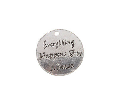10Pcs Everything Happens For A Reason Charms