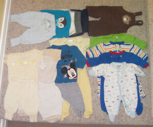 Baby boy's clothes 0-3 months (over 50 pieces)
