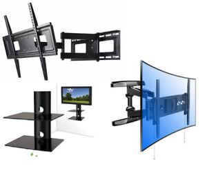 """LED LCD HD TV WALL-MOUNT 10"""" TO 90"""" W TILT FULL MOTION CEILING"""