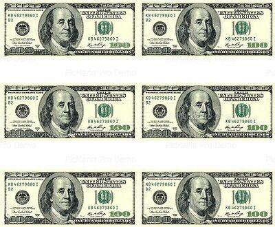 Dollar Bill Cake ($100 Dollar Bill ~ Edible Cake Image Topper ~ 1/4 Sheet Designer Strips )