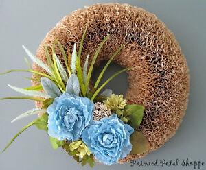 Coffee Filter Peonies Wreath/ Rustic Wedding