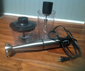 Immersion blender hand blender with attachments