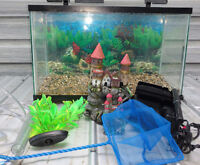 10 Gallon Fish Tank with pump and accessories
