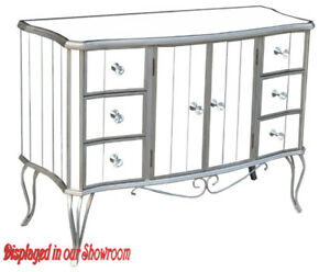 GREAT SELECTION OF MIRRORED VANITY COUNCEL WITH DRAWERS