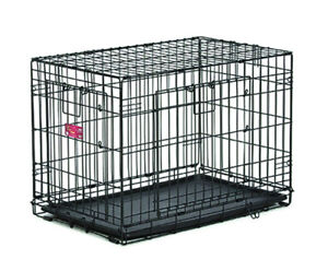 """New in Box 24"""" TWO DOOR wire crate by MIDWEST PETS"""