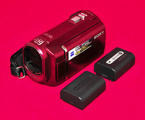 Sony HandyCam Video Camera, Charger, 2 Batteries, Card & Case