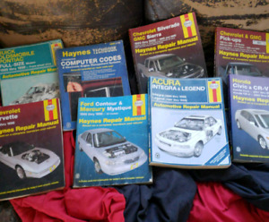 Several Haynes car repair book