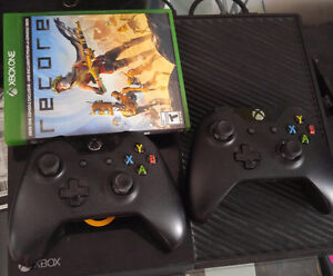 Xbox One with Recore and 2 controllers with original box