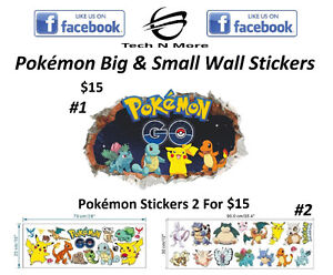 Pokémon Big & Small Wall Stickers (2 Different Stickers)