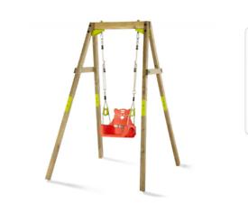 Brand New Plum Wooden Growing Swing Set