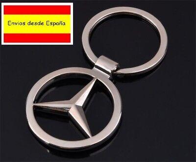 llavero de coche diseño cromado Mercedes Benz clase A B C E 4 matic AMG