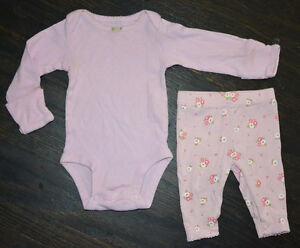 LIKE NEW: Carter's Pink Baby Girl 2-Pc Outfit (NB)
