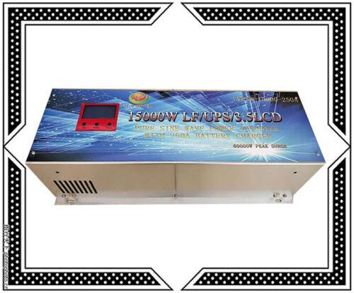 "15000W LF Split Phase PowerInverter 48V DC/110V,220V AC 60HZ 3.5""LCD/UPS/Charger"