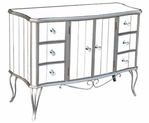 MIRRORED FURNITURE CHEST DRESSER CONSOLE SOFA TABLE