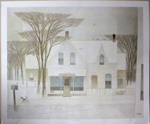 Sunday Morning by AJ Casson Signed Lithograph with COA (152/300)