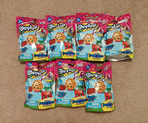 7 Shopkins Season 1 Plush Hanger Toy Blind Bags