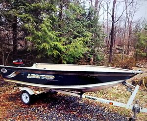 2002 Legend boat/25hp Merc motor/trailer package. $4000obo