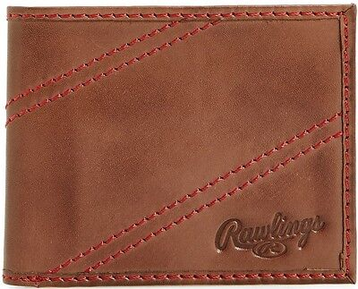 Rawlings Two Strikes Bifold Wallet - Brown Mens Lowest Price this Best