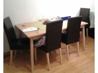 Ikea expandable table with 4 chairs