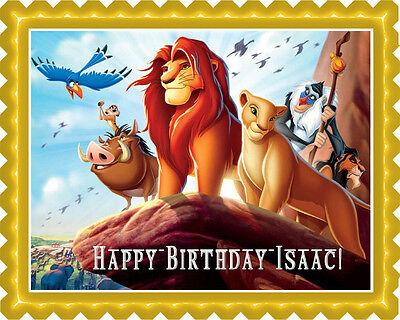 Lion King - Edible Cake Topper OR Cupcake Topper, Decor - Edible Birthday Cake Decorations